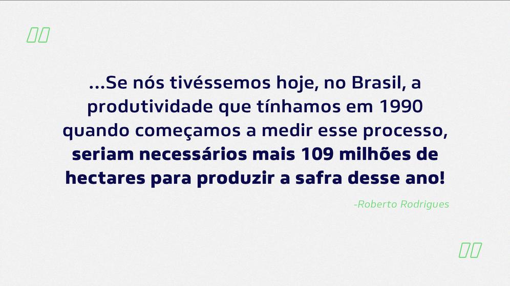 Tecnologia fez do Brasil agrícola uma potência. Hoje se produz mais em menos espaço.